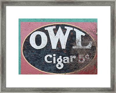 Owl Cigars Framed Print by John Adams