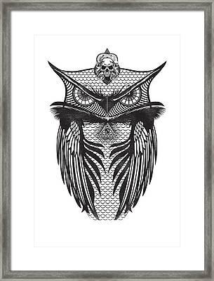 Owl Illustration Framed Print