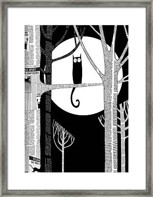 Owl Impression Framed Print by Andrew Hitchen
