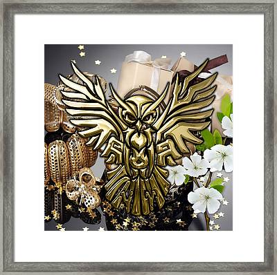 Owl In Flight Collection Framed Print by Marvin Blaine
