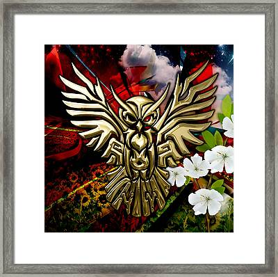 Owl In Flightcollectioni Framed Print by Marvin Blaine