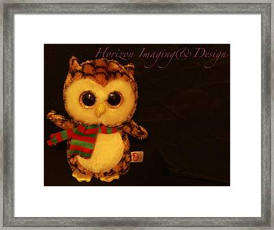 Owl In The Darkness Framed Print by John Strapp