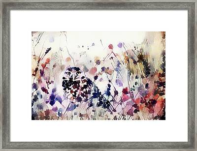 Owl In The Meadow Framed Print