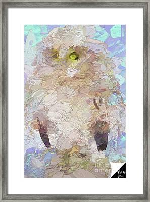 Framed Print featuring the digital art OWL by Jim  Hatch