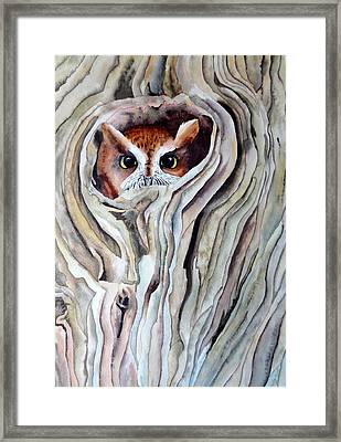 Framed Print featuring the painting Owl by Laurel Best