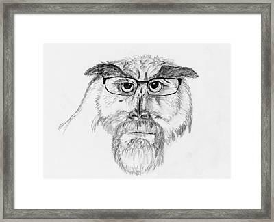 Owl Man Framed Print by Kip Hubbard