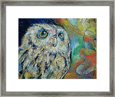 Owl Framed Print by Michael Creese