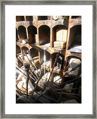 Framed Print featuring the photograph Owl Post Office Hogsmeade by Juergen Weiss