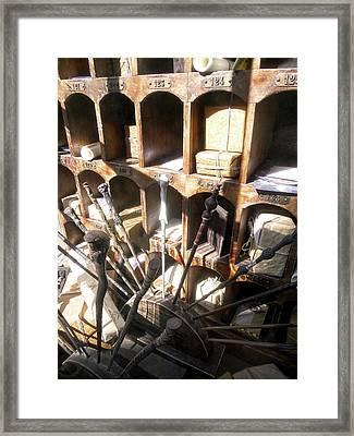 Owl Post Office Hogsmeade Framed Print by Juergen Weiss