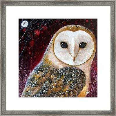 Owl Power Animal Framed Print by Amanda Clark