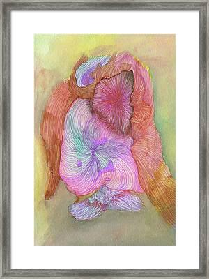 Owl - #ss16dw043 Framed Print by Satomi Sugimoto
