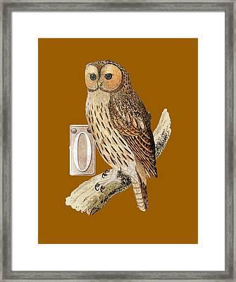 Owl T Shirt Design Framed Print by Bellesouth Studio