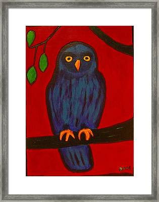 Owl Uggla Framed Print by Zeke Nord