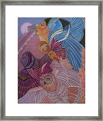 Owl Woman At Chichen Itza Framed Print