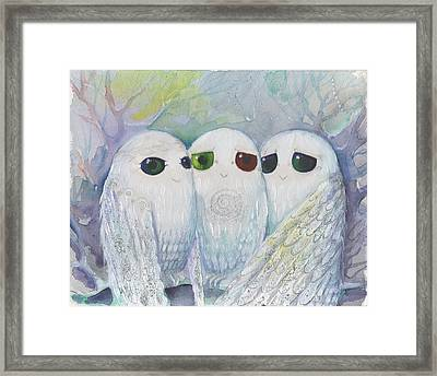 Owls From Dream Framed Print