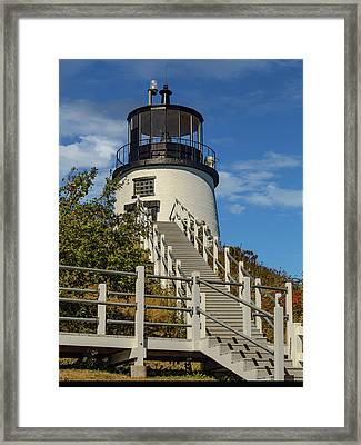 Owls Head Light. Maine Framed Print
