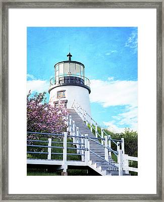 Owl's Head Light In Early June Framed Print