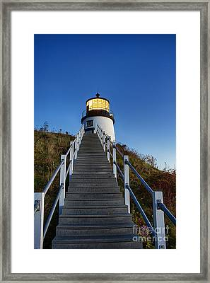 Owls Head Lighthouse Framed Print by John Greim