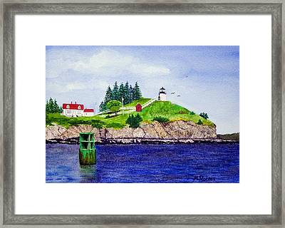 Owls Head Lighthouse Framed Print by Mike Robles