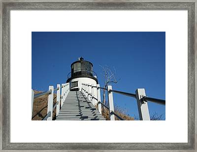 Owls Head Lighthouse Winter Framed Print by Doug Mills