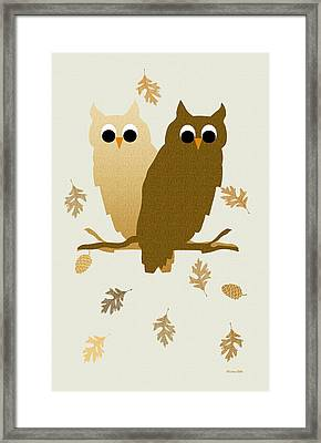 Owls Pattern Art Framed Print by Christina Rollo