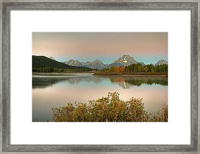 Framed Print featuring the photograph Oxbow Bend by Gary Lengyel