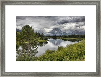 Oxbow Bend Framed Print by Hugh Smith