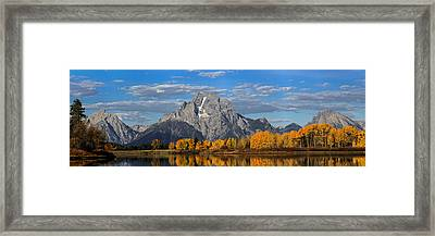 Oxbow Bend In Autumn Framed Print