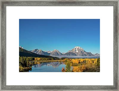 Oxbow Bend Framed Print by Mary Hone