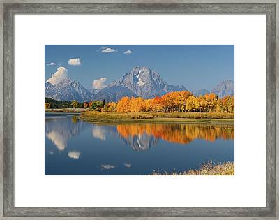 Framed Print featuring the photograph Oxbow Bend Reflection by Wesley Aston