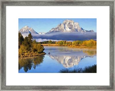 Oxbow Bend Framed Print by Renee Skiba