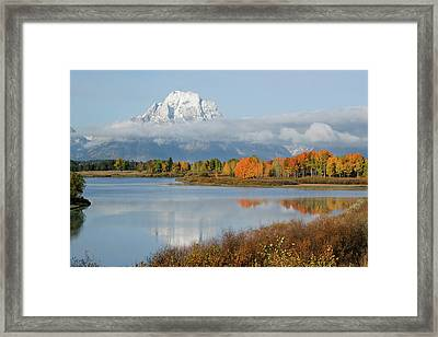 Framed Print featuring the photograph Oxbow Bend  by Wesley Aston