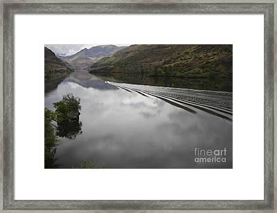 Oxbow Reservoir Wake Framed Print by Idaho Scenic Images Linda Lantzy
