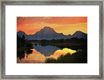 Oxbow Sunset 13 Framed Print by Marty Koch