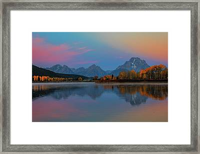 Oxbows Reflections Framed Print by Edgars Erglis
