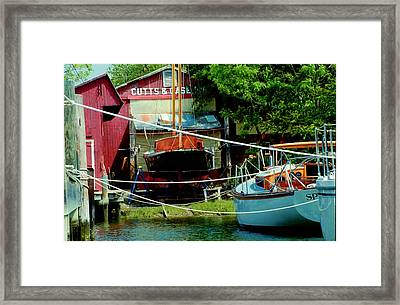 Oxford Boat Works Framed Print