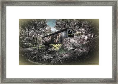 Oxford Covered Bridge Framed Print by Marvin Spates
