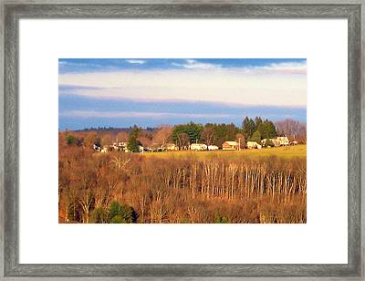 Oxford Glow3 Framed Print by Marcia Crispino