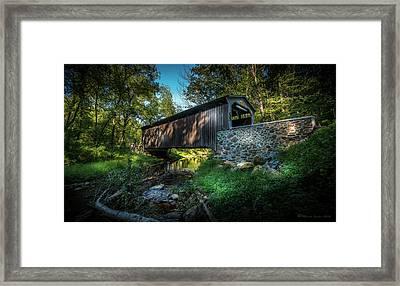 Oxford Pennsylvania Bridge Framed Print