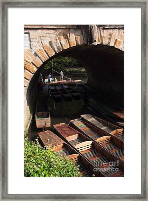 Oxford Punts Framed Print by Andrew  Michael