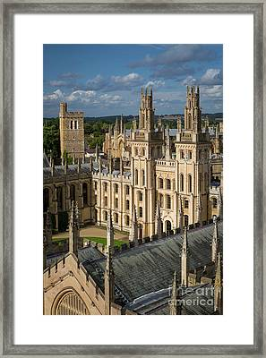 Framed Print featuring the photograph Oxford Spires by Brian Jannsen