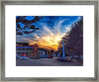 Oxford Square At Sunset Framed Print