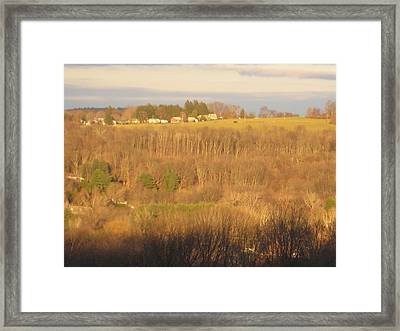 Oxford Sunglow Framed Print by Marcia Crispino