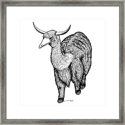 Oxtrich Framed Print by Karl Addison