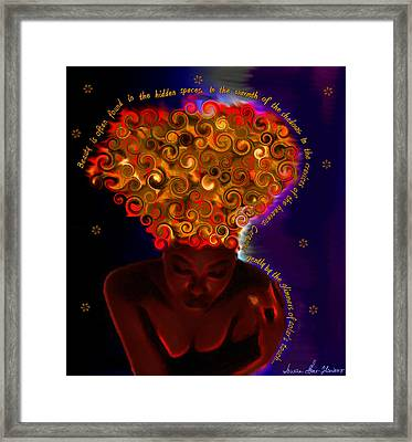 Framed Print featuring the digital art Oya by Iowan Stone-Flowers