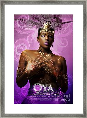 Oya Framed Print by James C Lewis