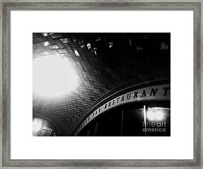 Oyster Bar At Grand Central Framed Print by James Aiken