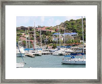 Framed Print featuring the photograph Oyster Bay Marina by Margaret Bobb