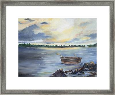 Oyster Bay Framed Print by Shirley Lawing
