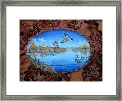 Oyster Creek Flock Framed Print by Kevin F Heuman